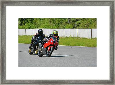Two Riders Were Approaching... Framed Print