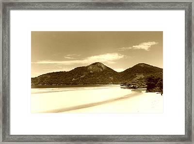 Two Rivers Beach Framed Print