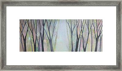 Two Roads I Framed Print by Shadia
