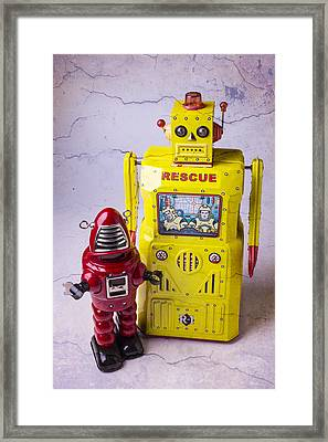 Two Robots Framed Print by Garry Gay