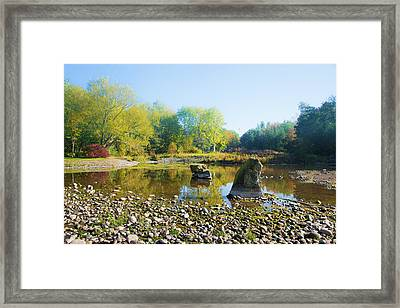 Two Rocks Framed Print by Svetlana Sewell