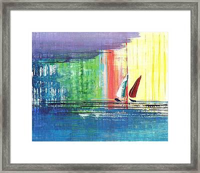 Two Sails Framed Print