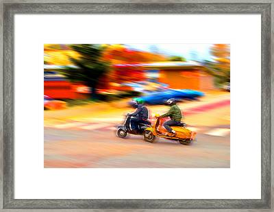 Two Scooters Framed Print by Craig Perry-Ollila