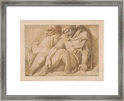 Two Seated Barbarian Captives Framed Print by MotionAge Designs