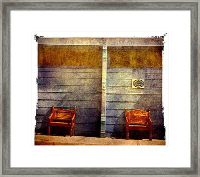 Two Seats Are Still Available Framed Print by Susanne Van Hulst
