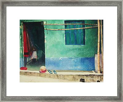Two Shoes And A Melon Framed Print