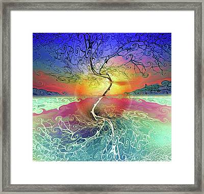 Two Sides To This Tree Framed Print