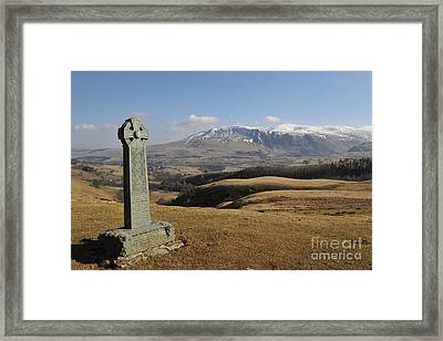 Two Skiddaw Shepherds Framed Print by Nichola Denny