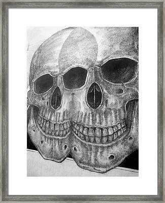 Framed Print featuring the photograph Two Skulls ... by Juergen Weiss