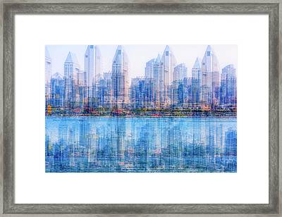 Two Skylines Framed Print