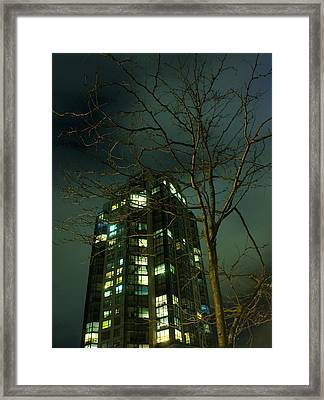Two Skyscrapers Framed Print by Barbara  White
