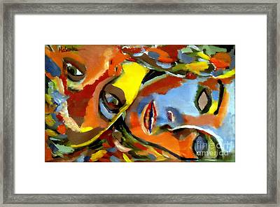 Framed Print featuring the painting Two Souls by Helena Wierzbicki
