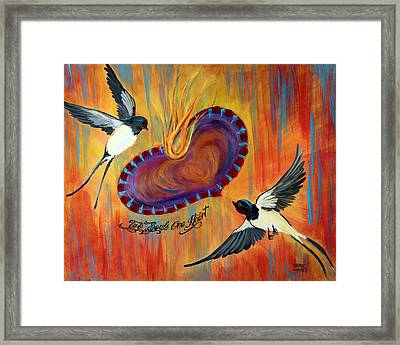 Two Souls One Heart Framed Print