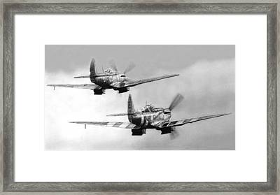 Two Spits Framed Print by Lyle Brown