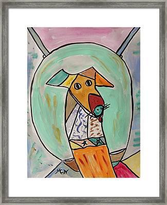 Two Star Greyhound Framed Print