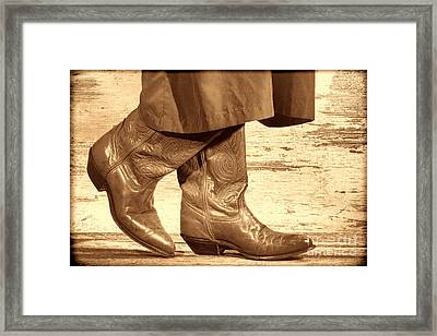 Two Step Framed Print by American West Legend By Olivier Le Queinec