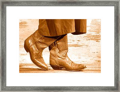 Two Step - Sepia Framed Print