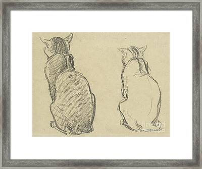 Two Studies Of A Cat Framed Print