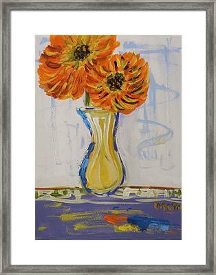 Two Sunshine Flowers Framed Print