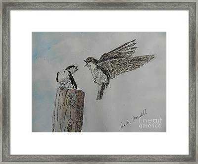 Two Swallows Framed Print
