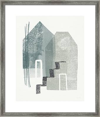Two Tall Houses- Art By Linda Woods Framed Print