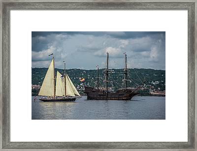 Two Tall Ships Framed Print by Paul Freidlund