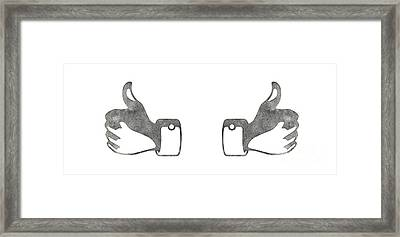 Two Thumbs Up Framed Print by Edward Fielding