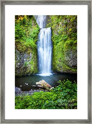 Two Tier Waterfall Large Canvas Art, Canvas Print, Large Art, Large Wall Decor, Home Decor Framed Print