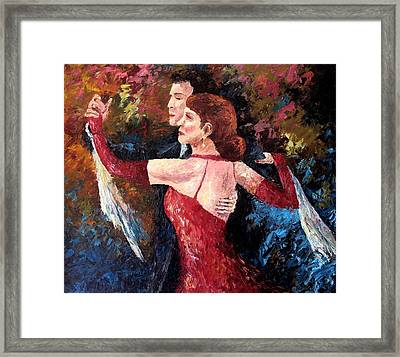 Two To Tango Framed Print by David G Paul