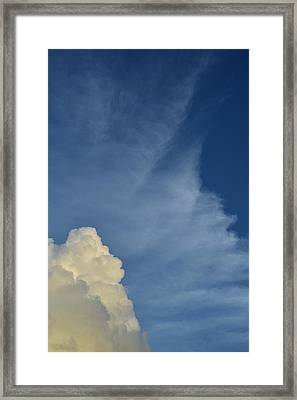 Two Tone Clouds 9384 Framed Print