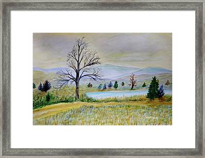 Two Tracking Framed Print by Dick Bourgault