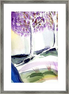 Two Trees Framed Print by Janet Doggett