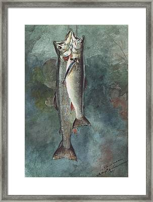 Two Trout Framed Print by Winslow Homer