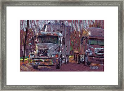 Two Trucks Framed Print by Donald Maier