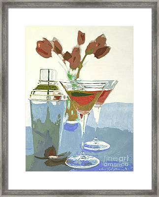 Two Tulip Martinis Framed Print by David Lloyd Glover
