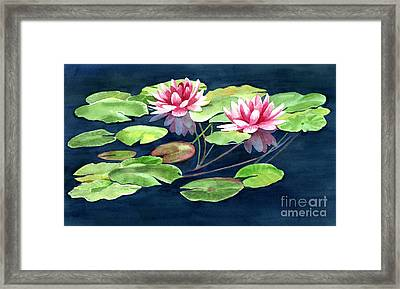 Two Water Lilies With Pads Framed Print