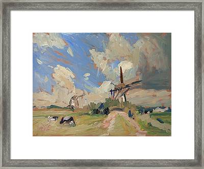 Two Windmills Framed Print