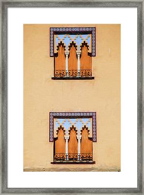 Two Windows Of Cordoba Framed Print by David Letts