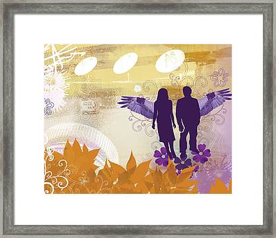Two Wings Framed Print by Misha Maynerick