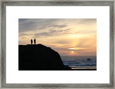 Two With A View Framed Print