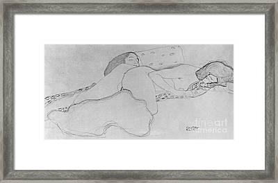 Two Women Asleep Framed Print