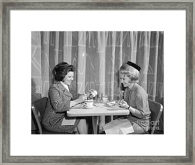 Two Women Having Lunch, C.1960s Framed Print by H. Armstrong Roberts/ClassicStock