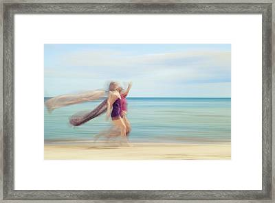 two women on beach No. 5 Framed Print by Holger Nimtz
