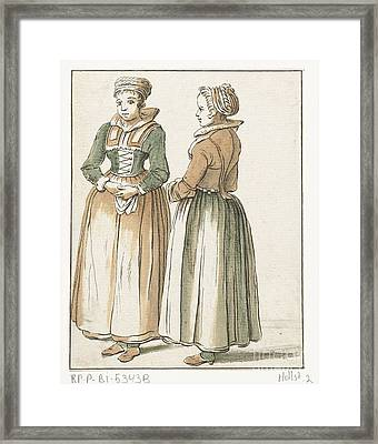 Two Women Standing Framed Print by Celestial Images