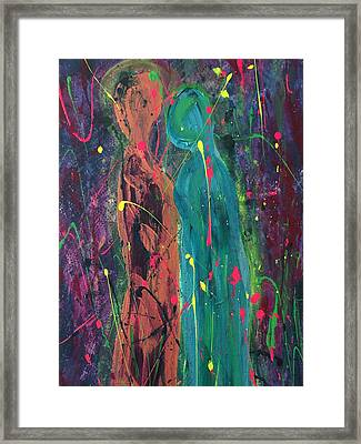 Two Women Together Framed Print