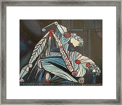 Two Wrestlers Framed Print by Suzanne  Marie Leclair