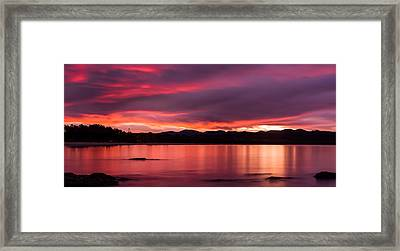 Twofold Bay Sunset Framed Print by Racheal  Christian