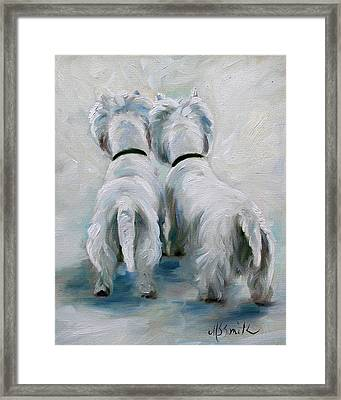 Two's Company Framed Print by Mary Sparrow