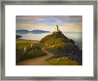 Twr Mawr Light Framed Print by James Charles