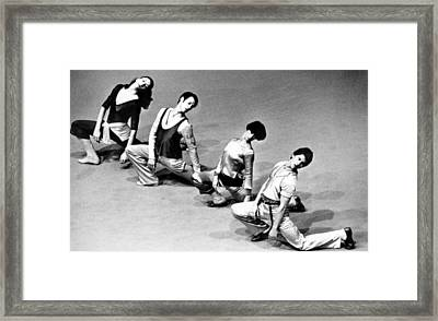 Twyla Tharp 2nd From Right Framed Print by Everett